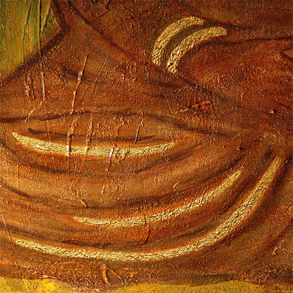 Der braune Buddha - Bildausschnitt