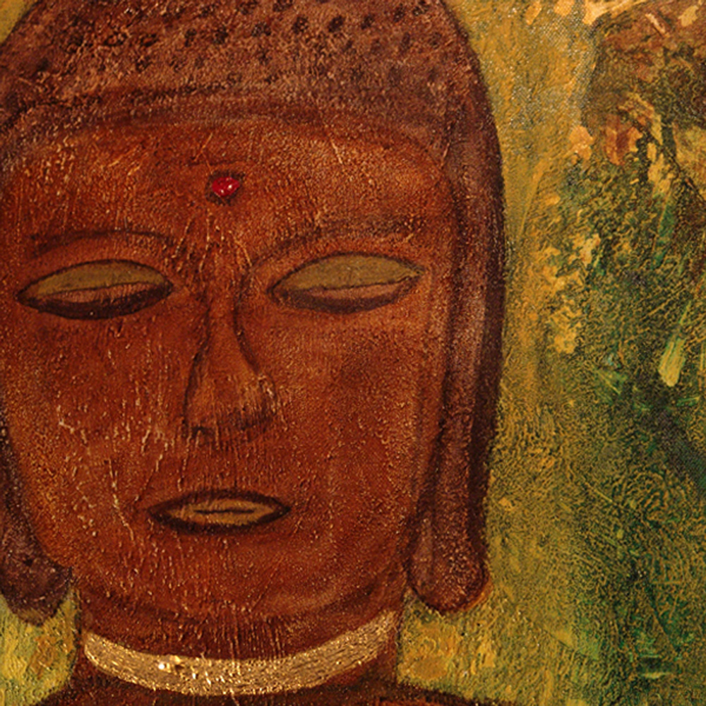 The brown Buddha - image detail