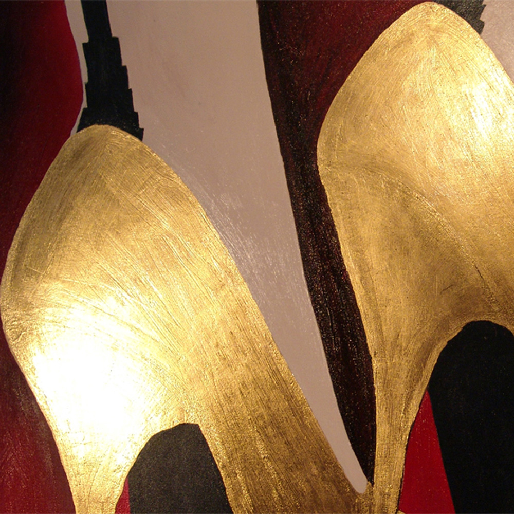 The golden shoes - image detail